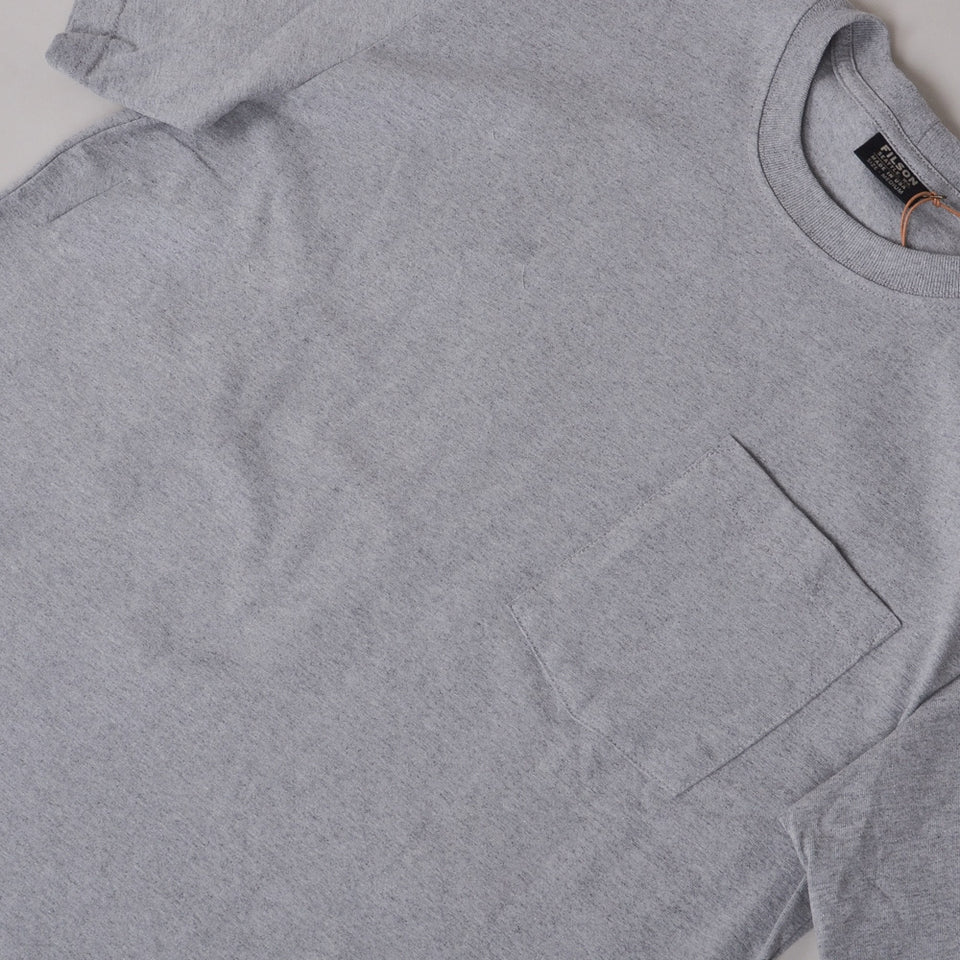 Filson S/S Outfitter Solid One Pocket Tee - Grey Heather