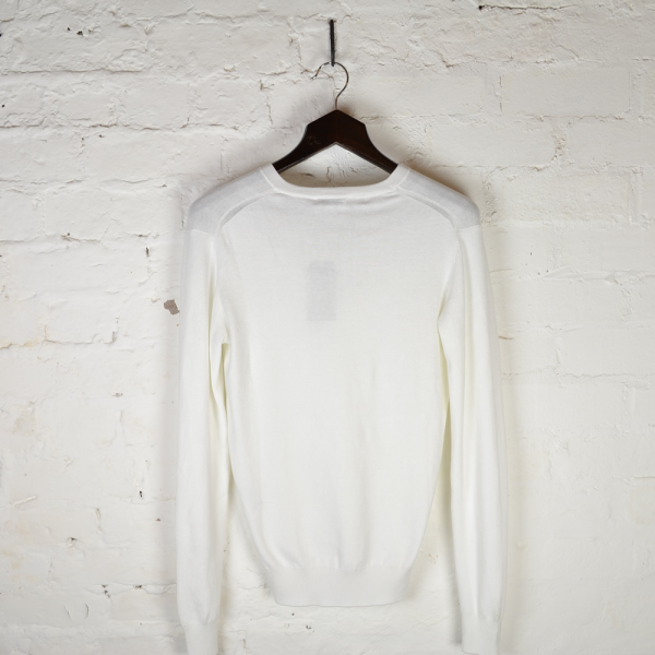 Melvin V-Neck White Knitwear