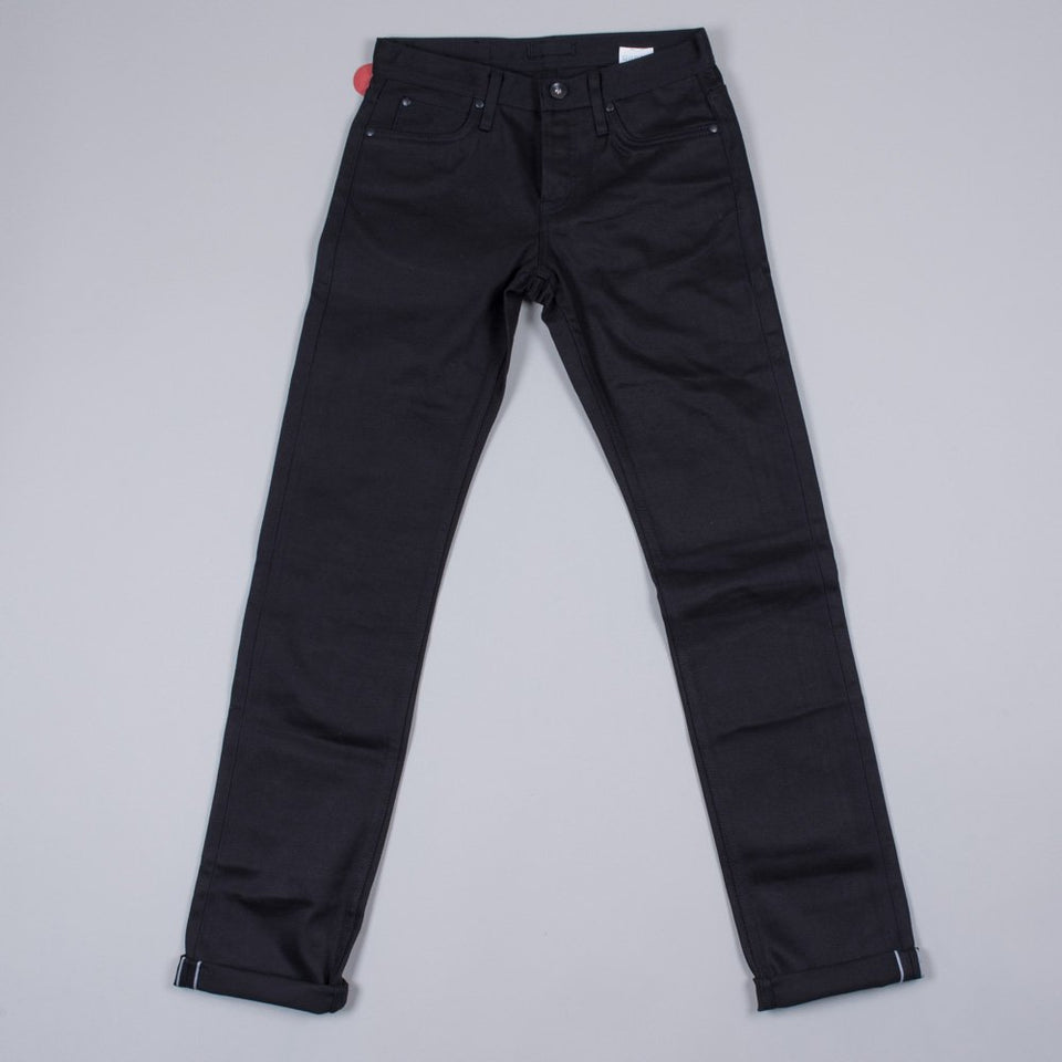 Unbranded UB155 Skinny Fit 13oz Black Chino Selvage