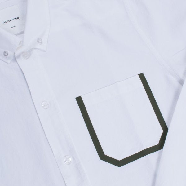 Wood Wood Dorset Shirt White / Olive