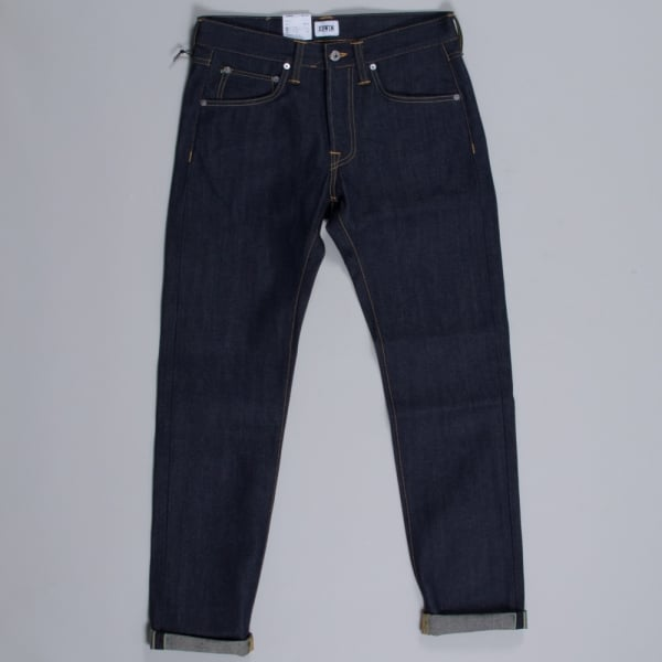 Edwin ED-55 63 Rainbow Selvage 12.8oz Blue Unwashed