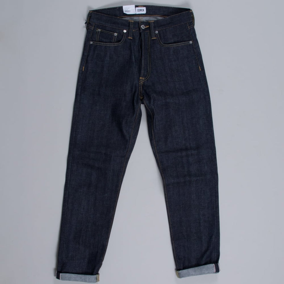 Edwin ED-45 Red Listed Selvage - Unwashed Blue