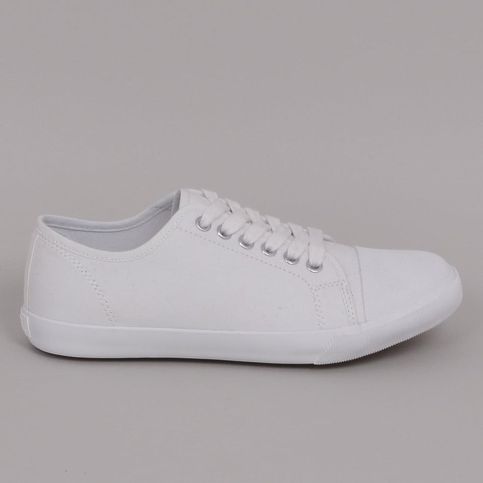 MHL Military Plimsole Cotton Canvas Off White
