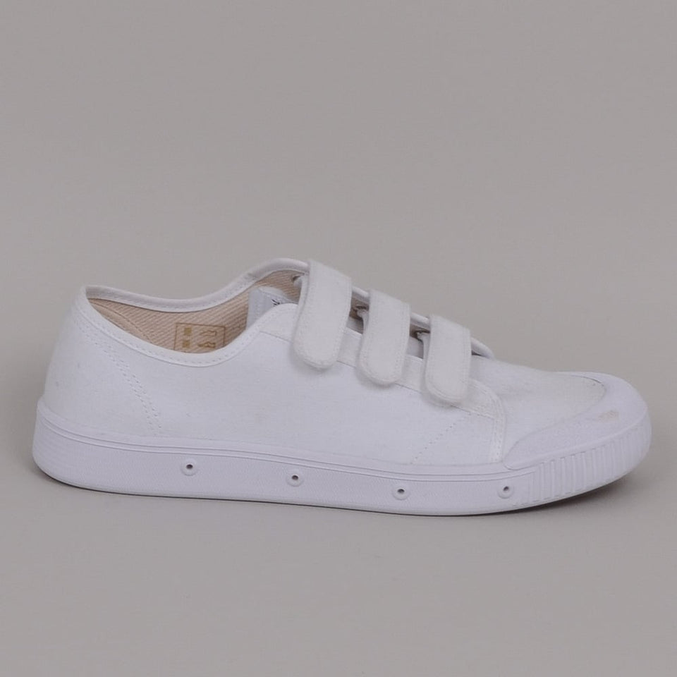 Spring Court G2 Velcro Canvas Low White