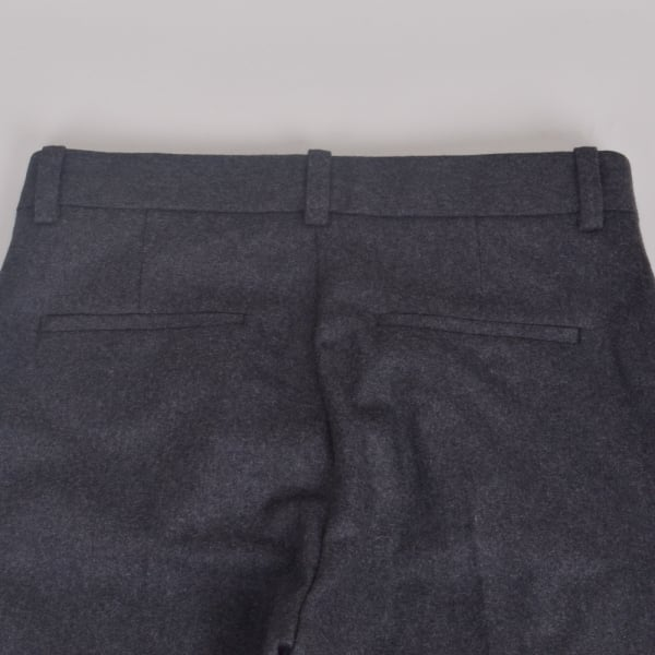 Wood Wood Temple Trousers Grey Melange