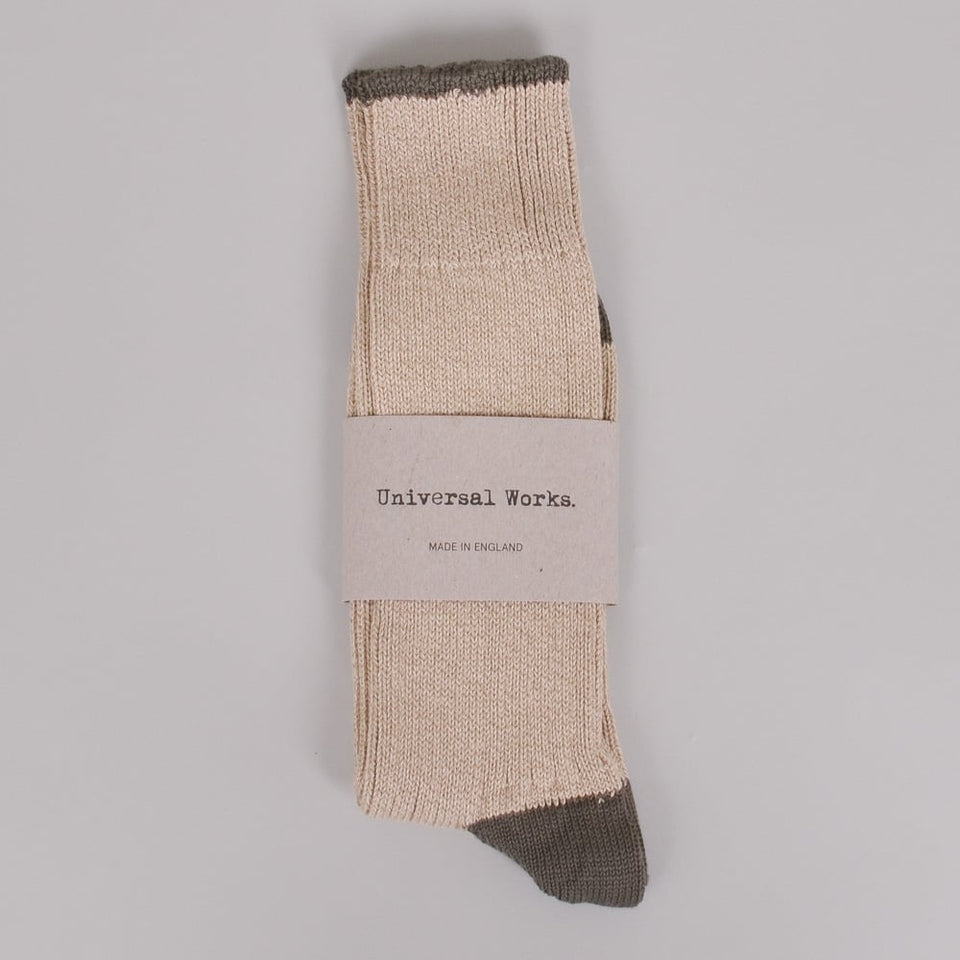 Universal Works Simple Sock - Stone