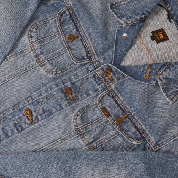 Lee Jeans Rider Jacket - Blue Damage