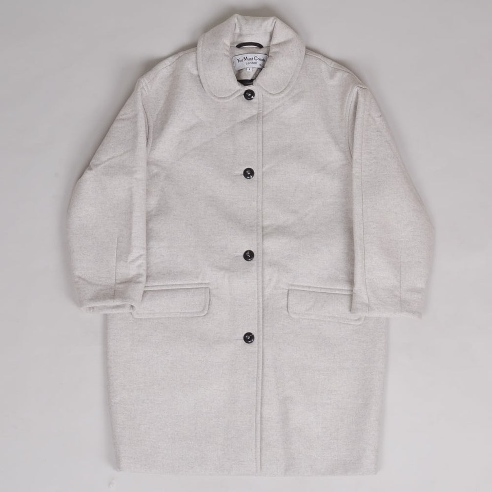 YMC Ladies Neoprene Wool Coat Off-White