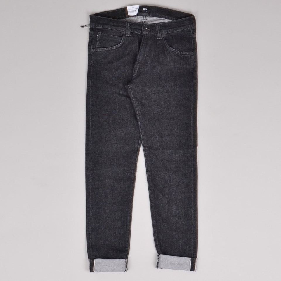 Edwin ED-85 CS Red Listed Selvedge - Easy Black Wash