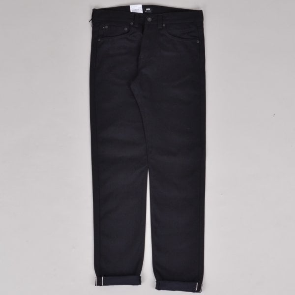 Edwin ED-80 Unwashed Red Listed Selvage - Black