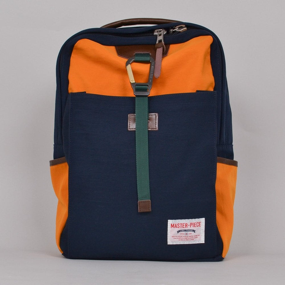 Master-Piece Link Series Backpack - Navy/Yellow