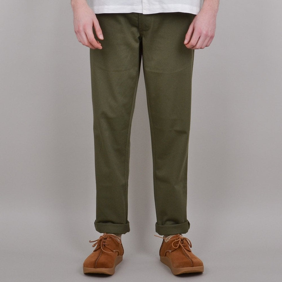 Universal Works Aston Pant Twill - Light Olive