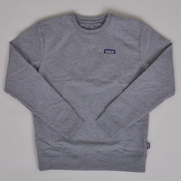 Patagonia P-6 Label Uprisal Crew Sweatshirt - Gravel Heather