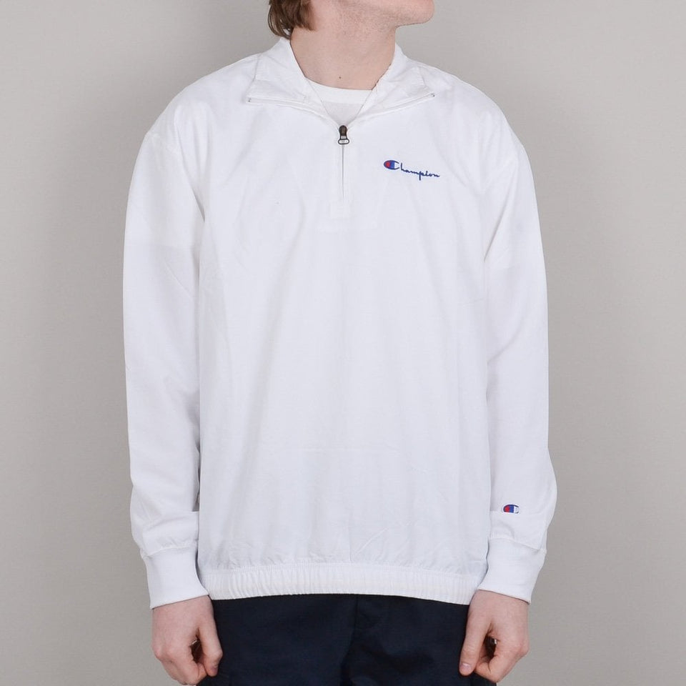 Champion Half Zip Top - White