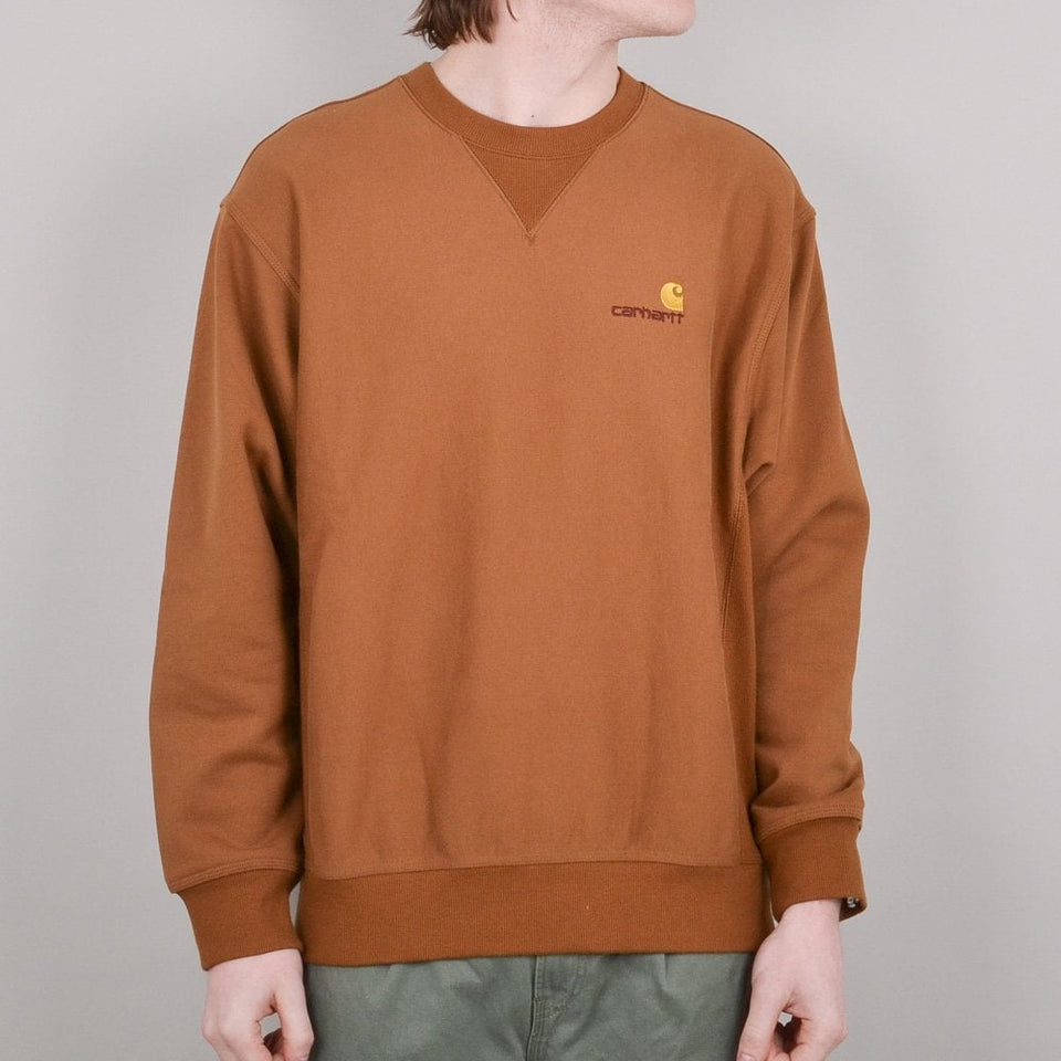 Carhartt American Script Sweat - Hamilton Brown