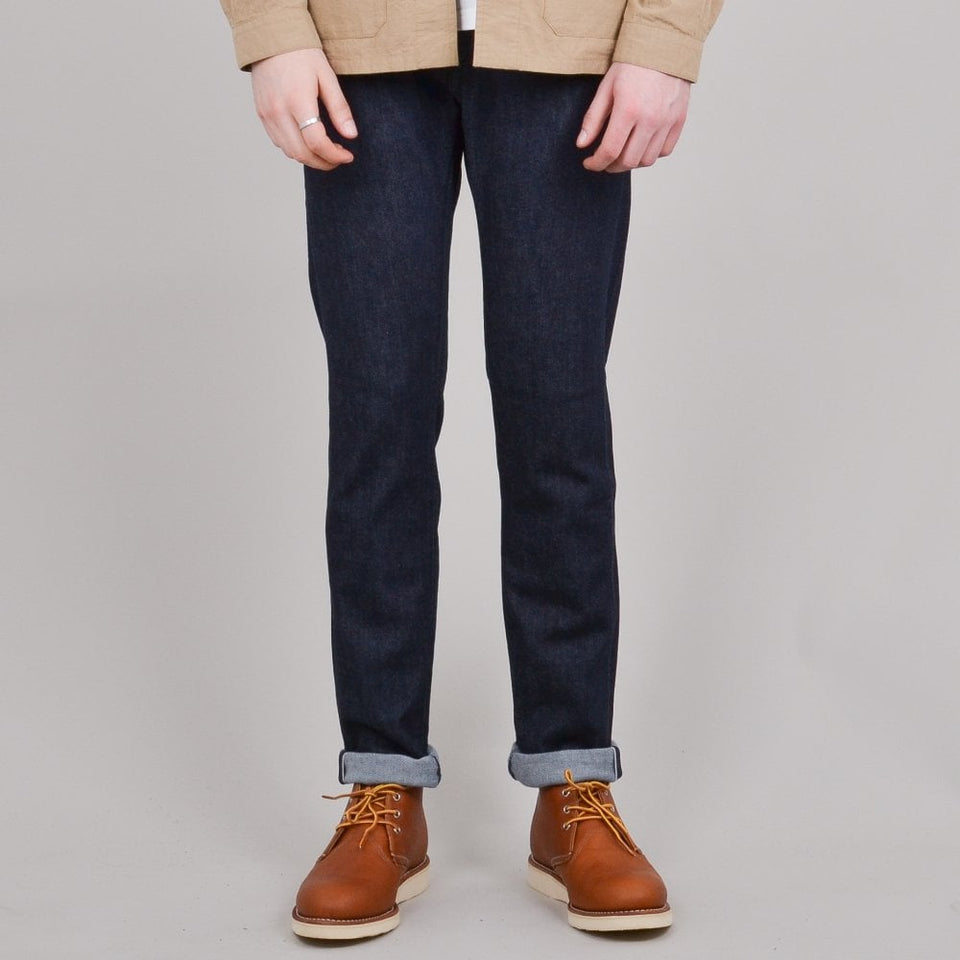 Edwin ED-55 CS Red Listed Blue Denim - Blue Rinsed