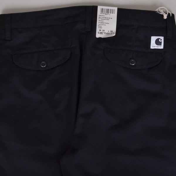 Carhartt Packard Pant Denison Twill - Black