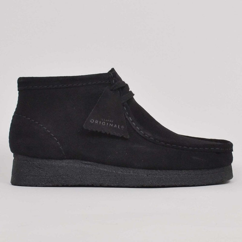 Clarks Originals Ladies Wallabee Boot - Black Suede