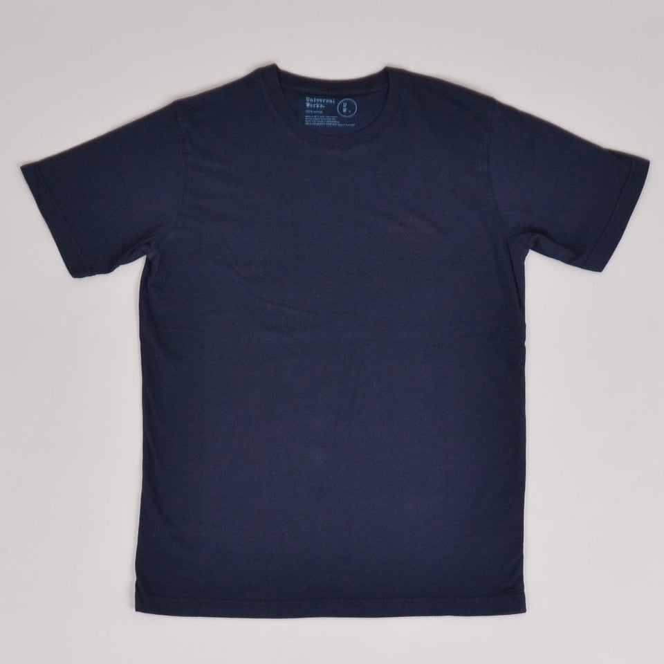 Universal Works Club Print Tee - Navy