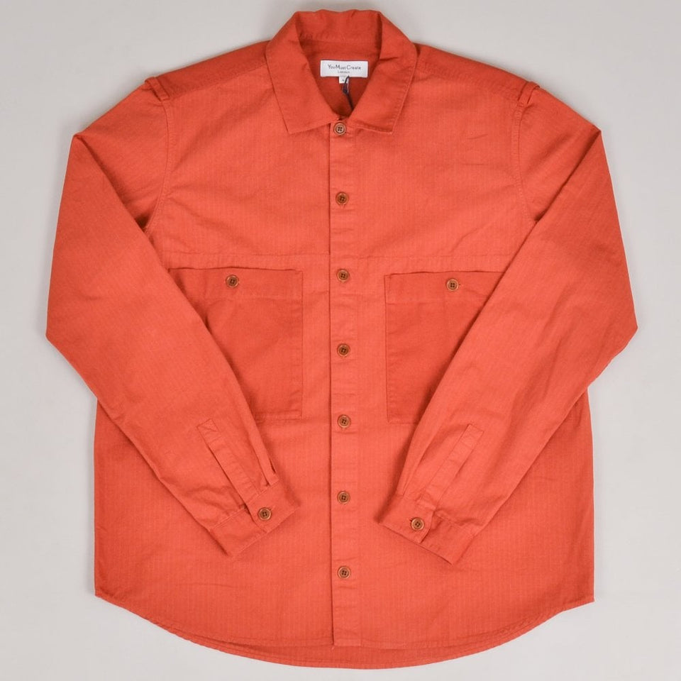 YMC Doc Savage Shirt - Rust