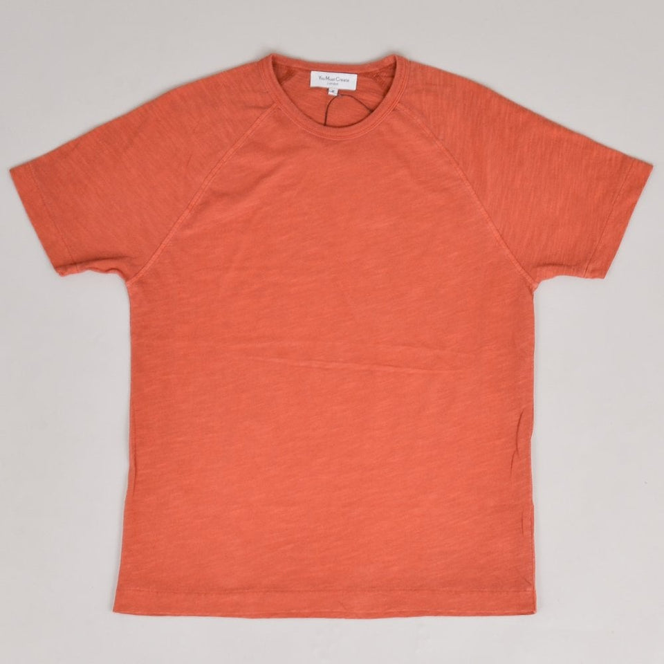 YMC TV Raglan Tee - Rust