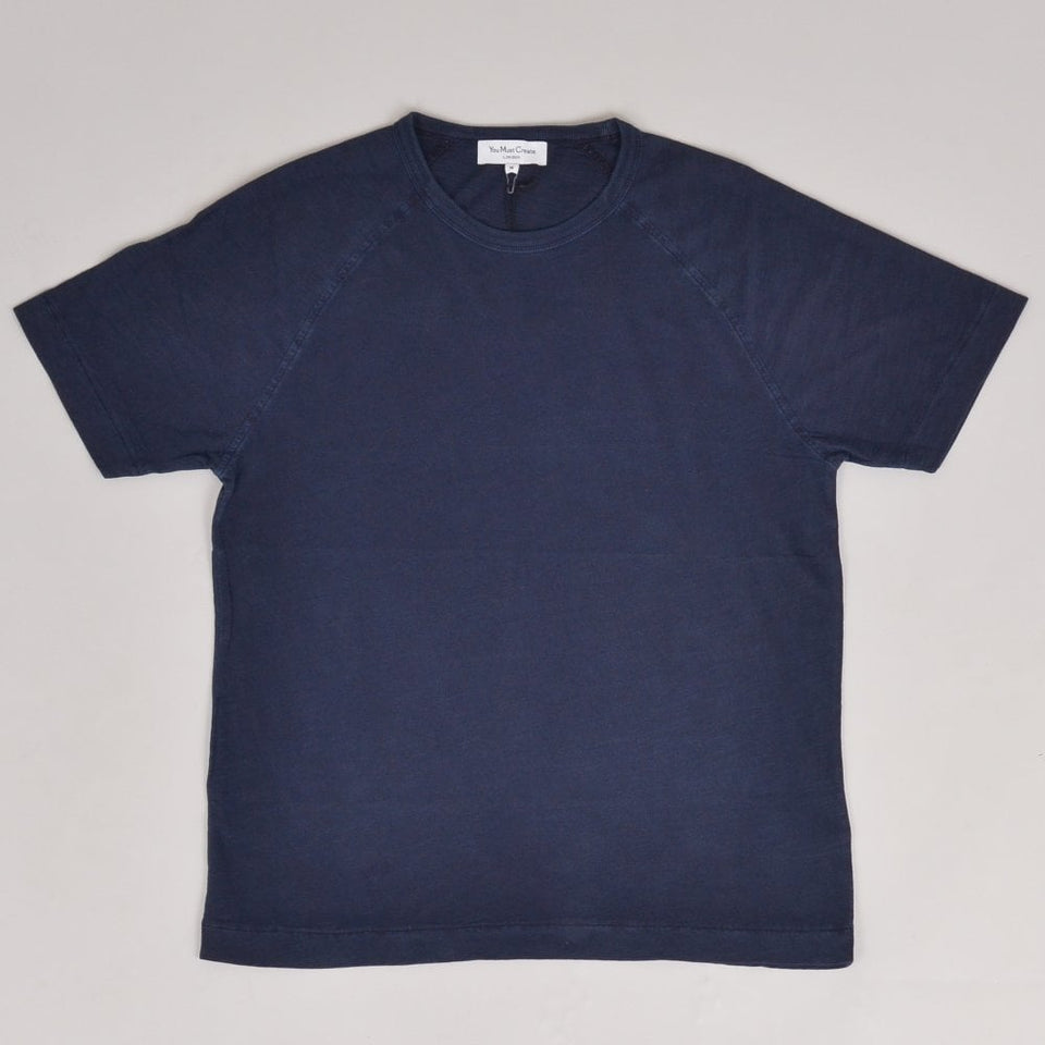 YMC TV Raglan Tee - Dark Navy