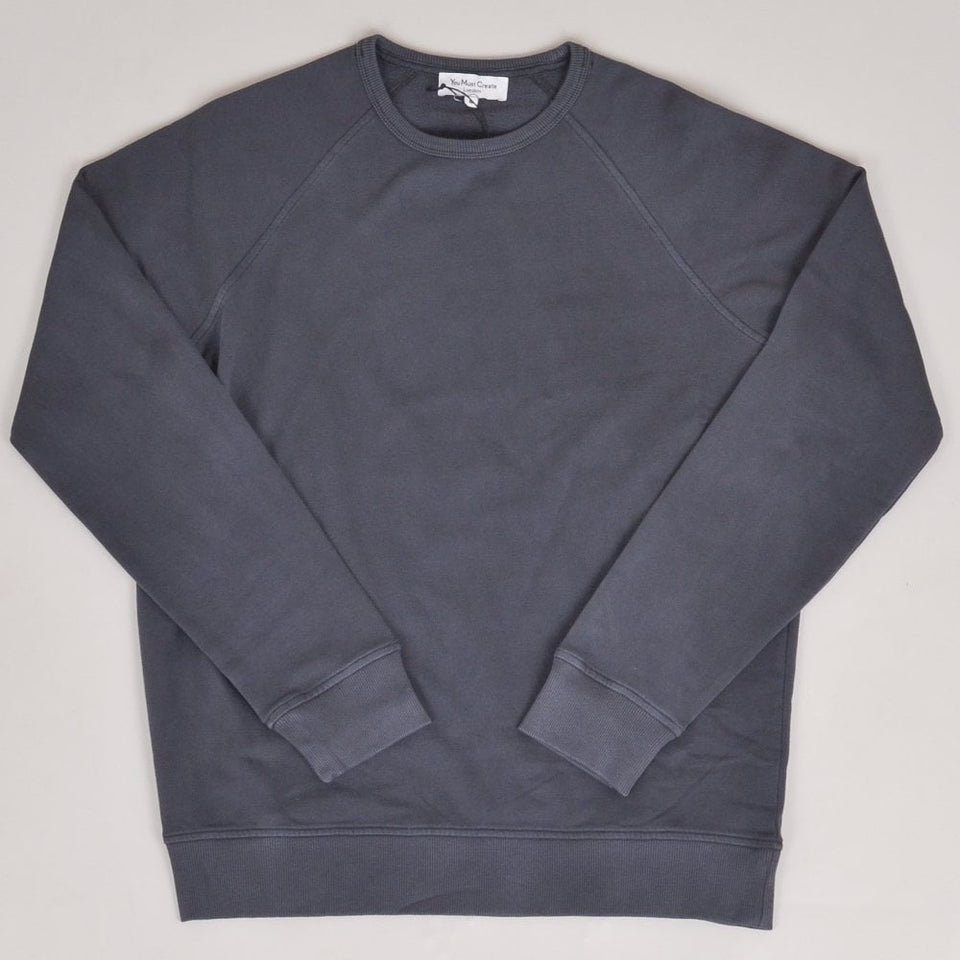 YMC Schrank Raglan Sweat - Charcoal