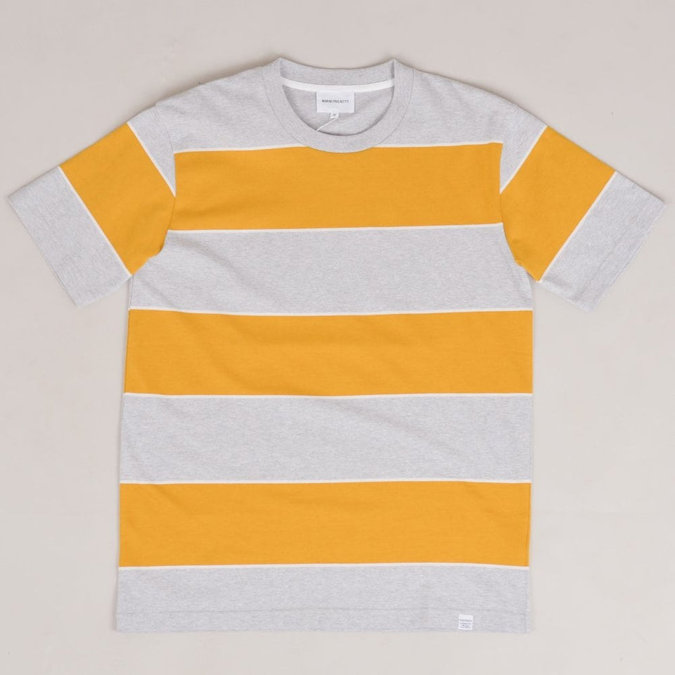 Norse Projects Johannes 3 Stripe - Montpellier Yellow