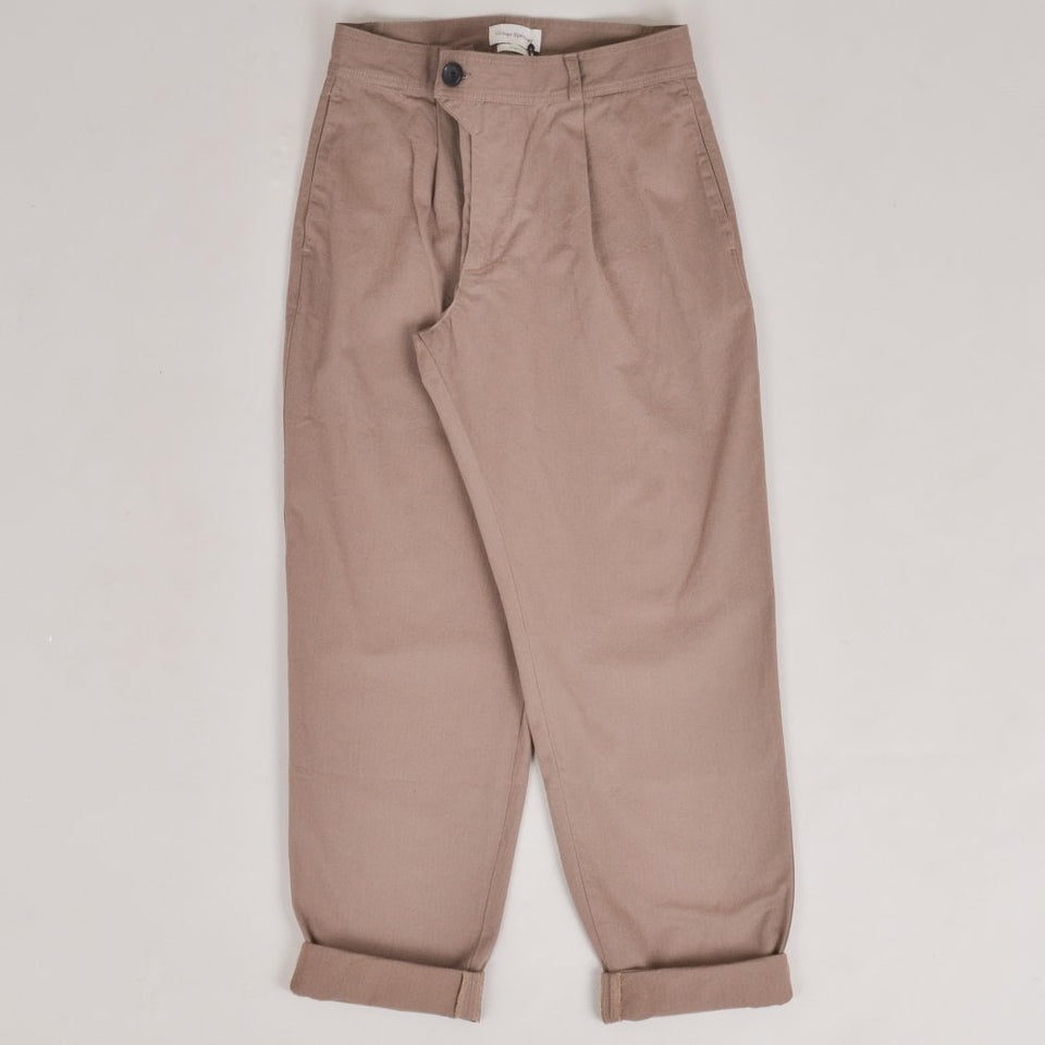 Oliver Spencer Pleat Trouser - Tobacco