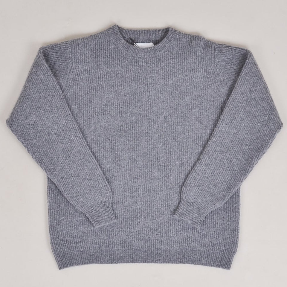 Albam Ribbed Crew Neck - Grey
