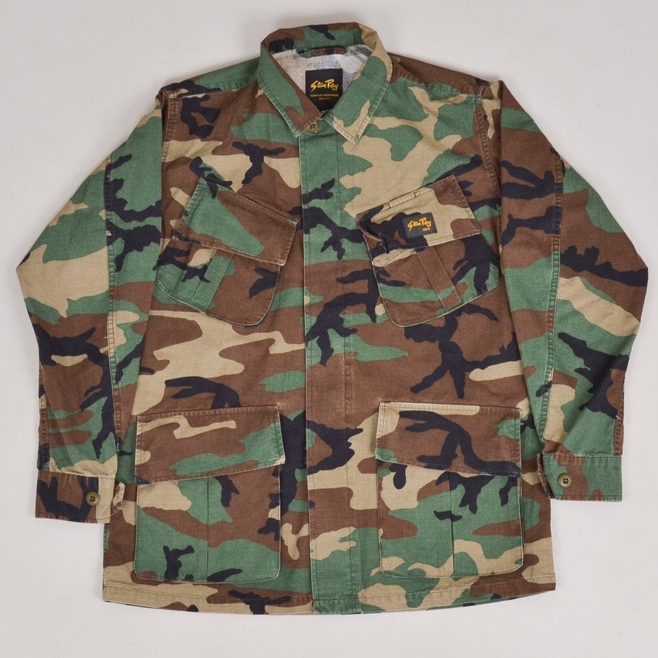 Stan Ray Tropical Jacket - Stonewashed Camo