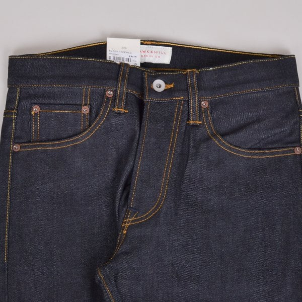 Hawksmill Denim Co Loose Tapered Organic - Indigo