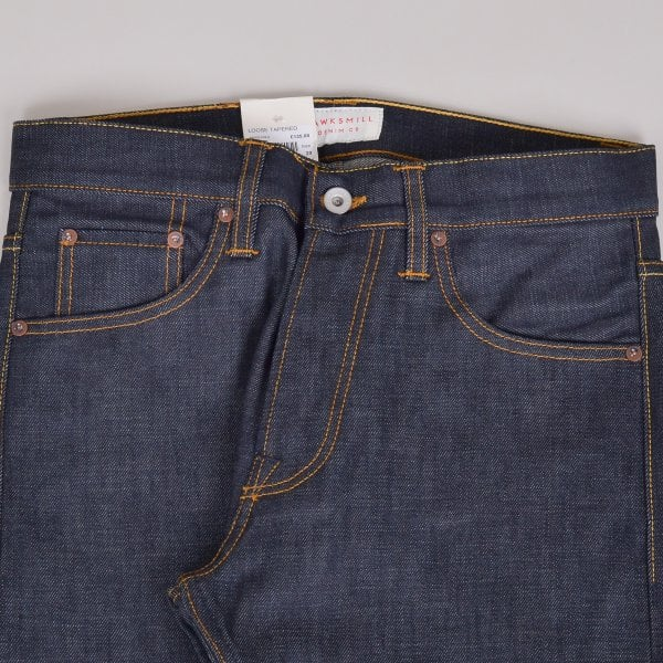 Hawksmill Denim Co Loose Tapered Isko Selvedge - Indigo
