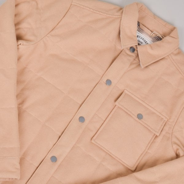 Portuguese Flannel Nevada Jacket - Latte