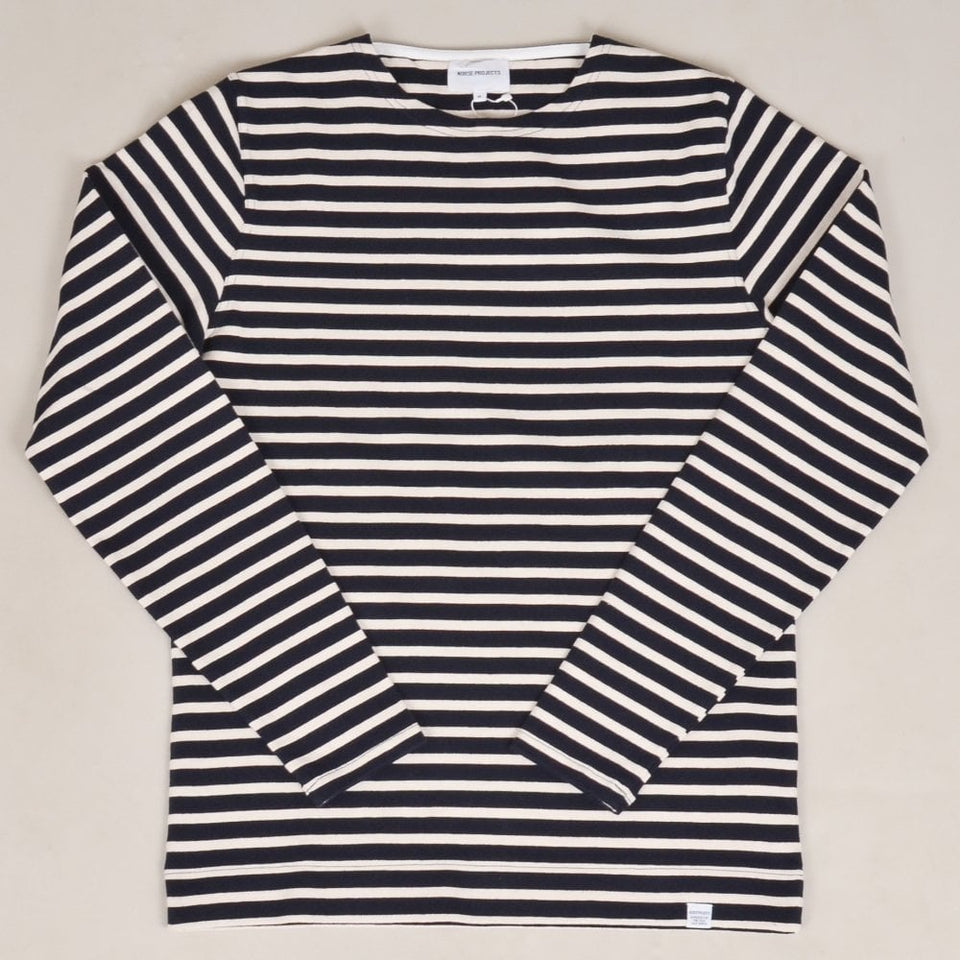 Norse Projects Godtfred Classic Compact L/S - Navy