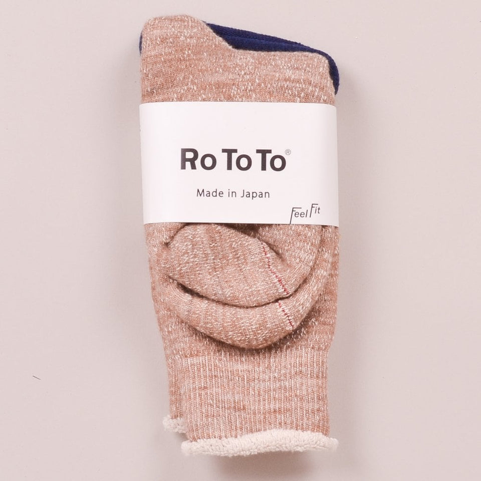 RoToTo Double Faced Socks - Camel