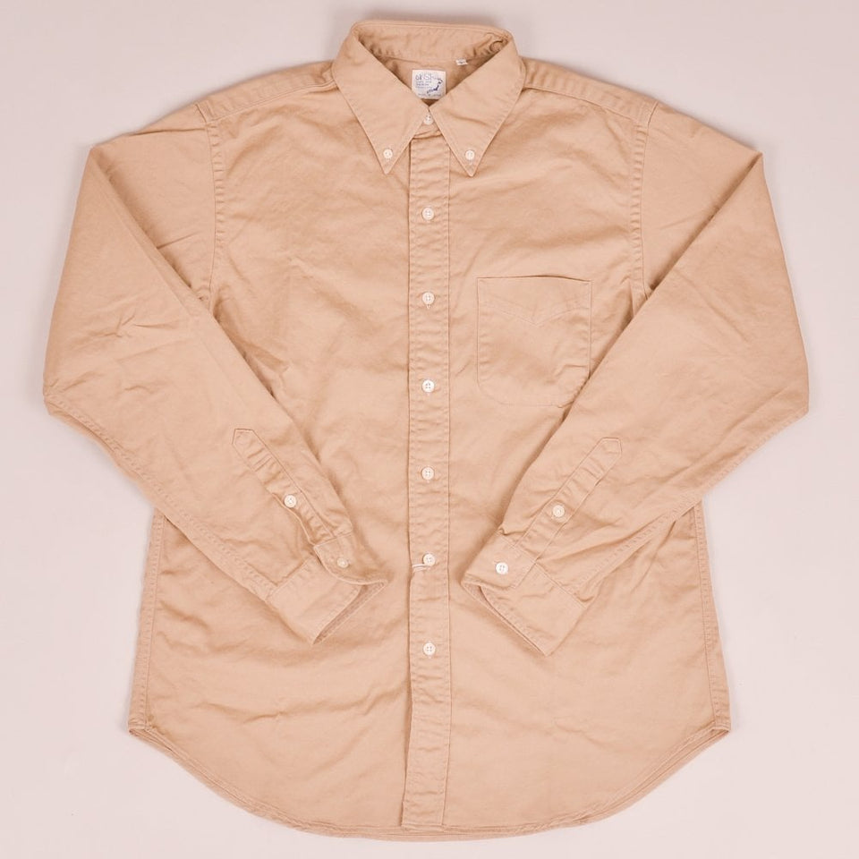 Orslow Button Down Shirt - Khaki