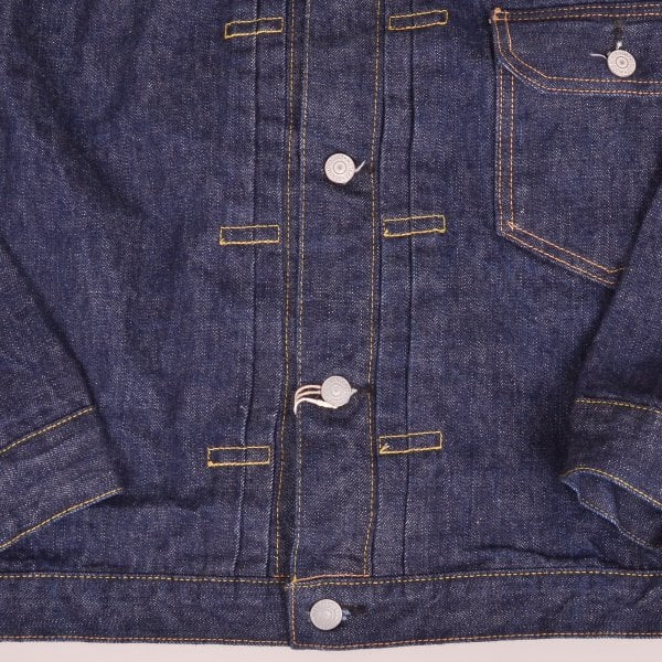 Orslow Pleated Front Type 1 Denim Jacket - One Wash