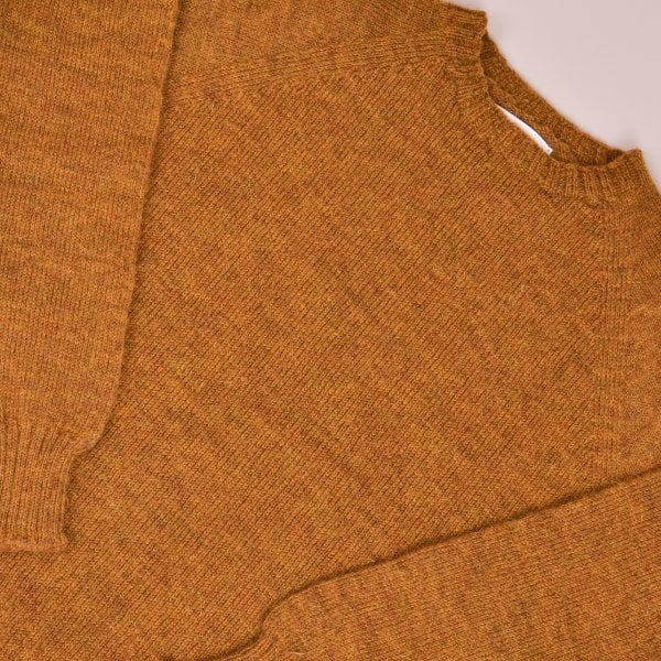 Kestin Seamless British Wool Crew Neck - Harvest