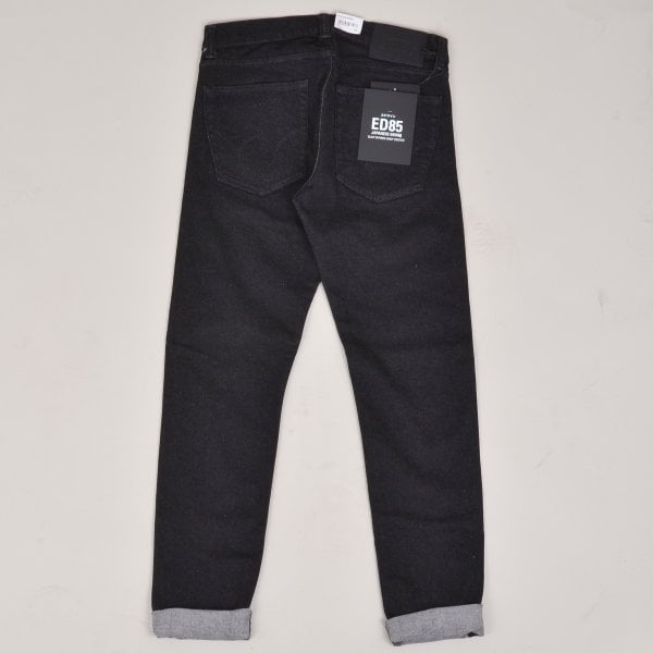 Edwin ED-85 CS Ayano Black Denim - Rinsed