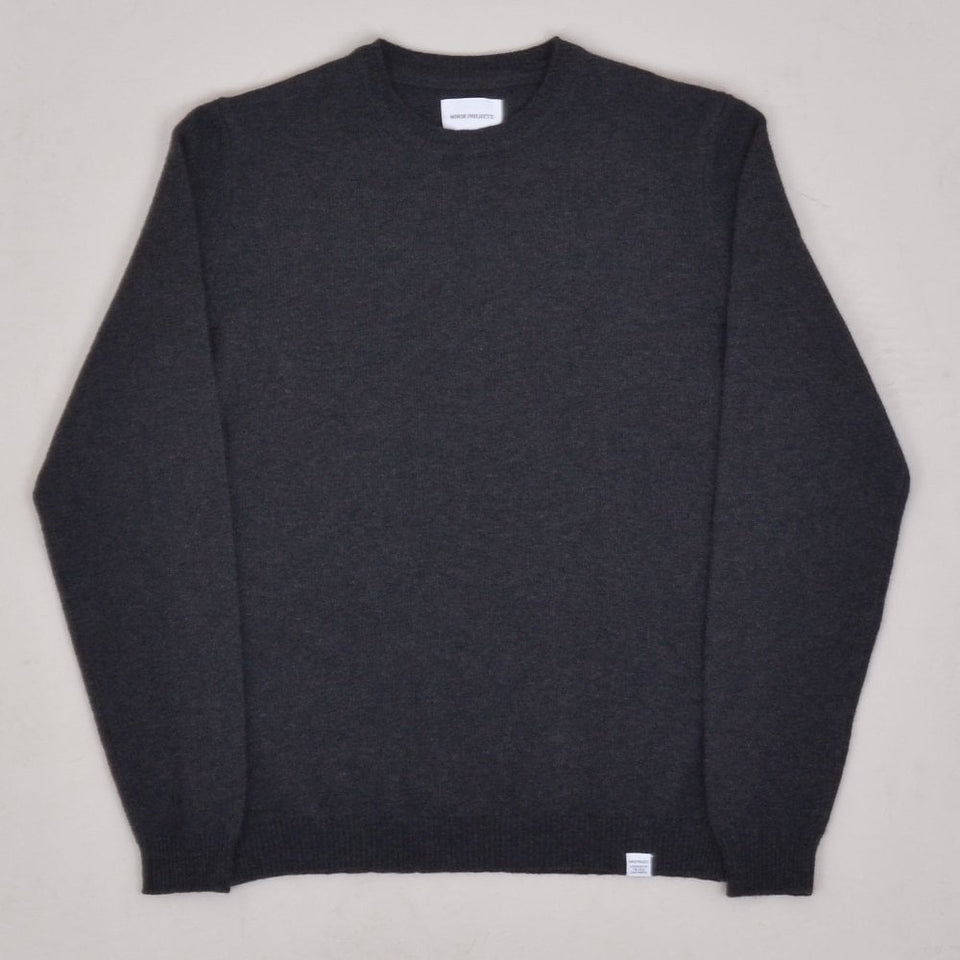Norse Projects Sigfred Lambswool - Charcoal Melange