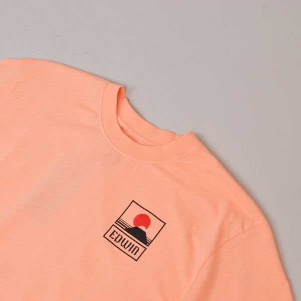 Edwin Sunset on Mount Fuji T-Shirt - Peach