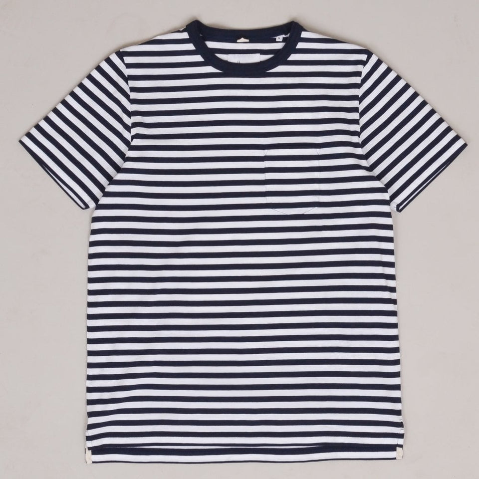 Albam Classic Stripe T-shirt - Navy / White