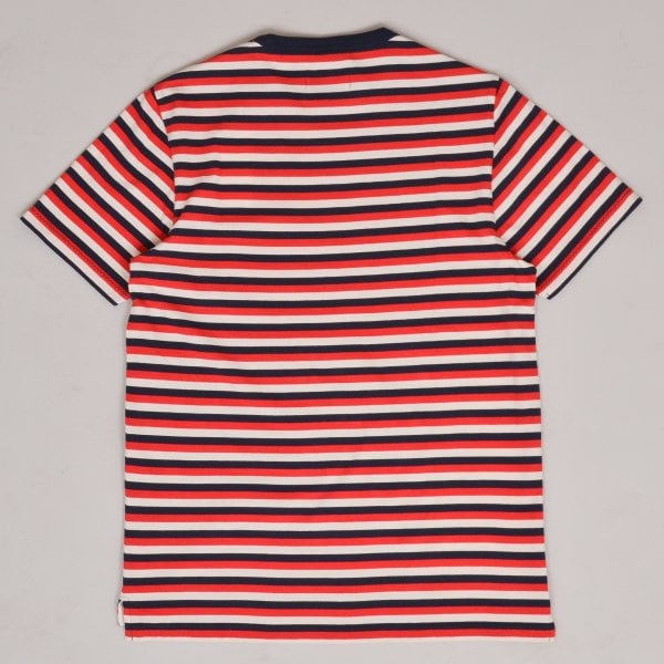 Albam Classic Stripe T-shirt - Red / Tan / Navy
