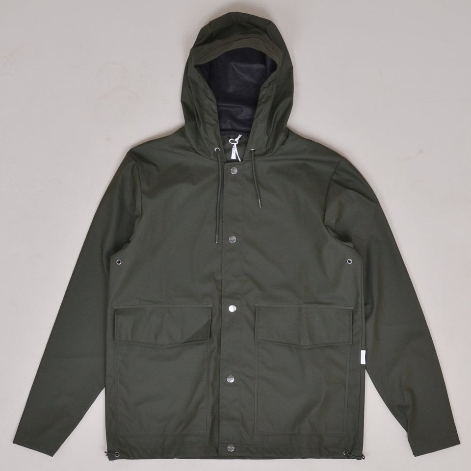 Rains Short Coat - Green