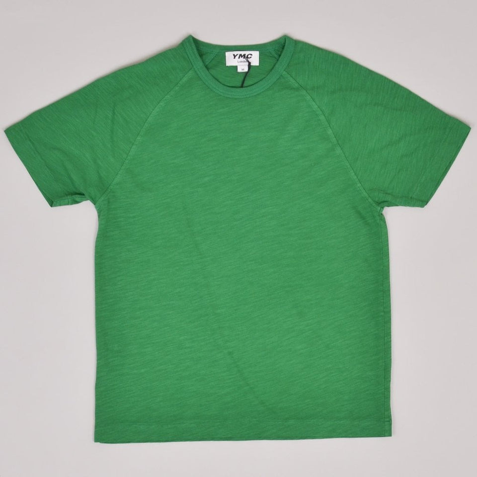 YMC TV Raglan Tee - Green