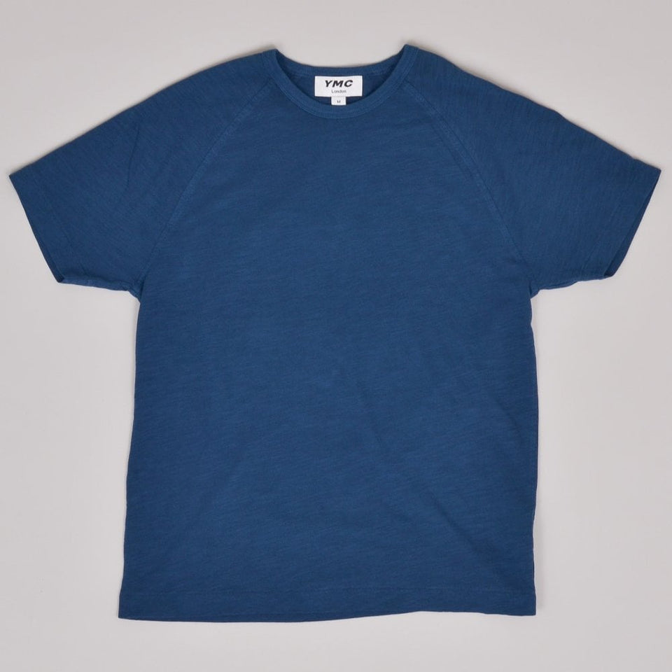 YMC TV Raglan Tee - Blue