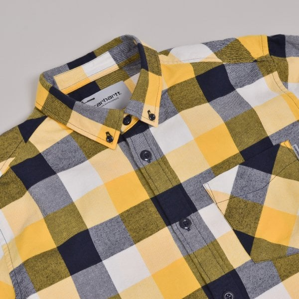 Carhartt WIP Keagan Check Shirt - Sunflower
