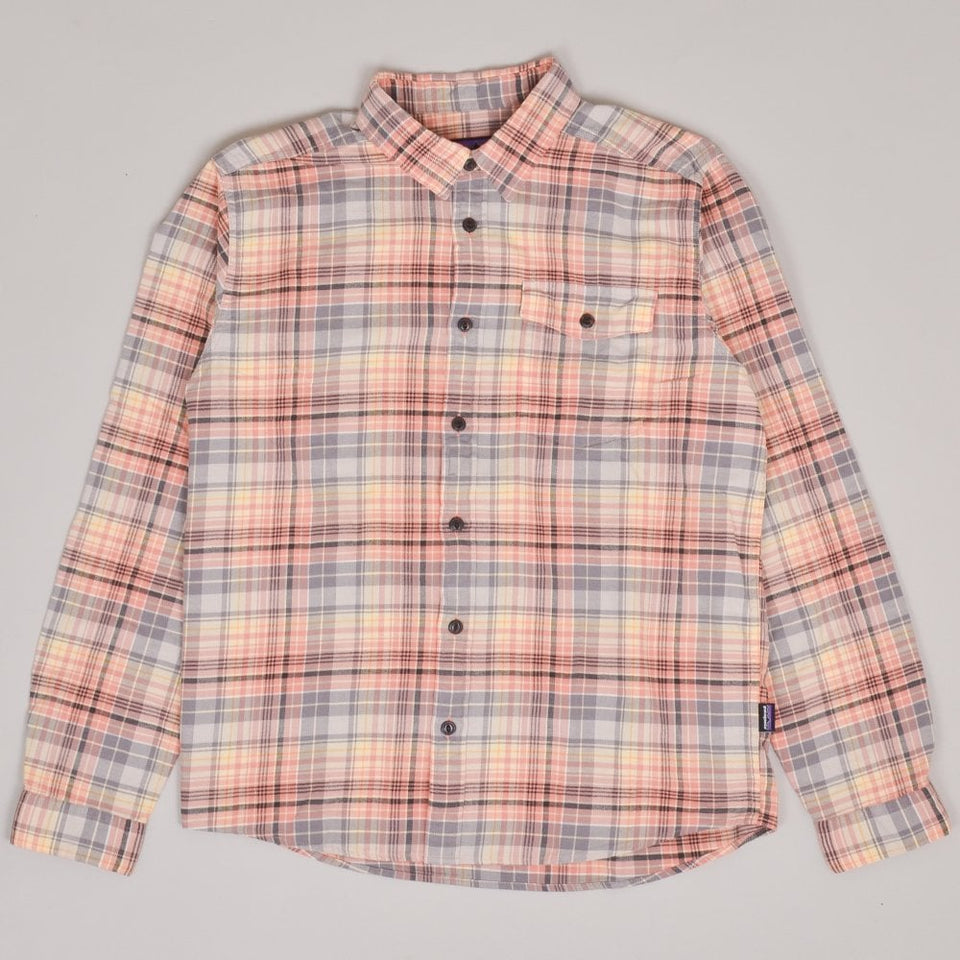 Patagonia Lightweight Fjord Flannel Shirt - Collective/Mellow Melon