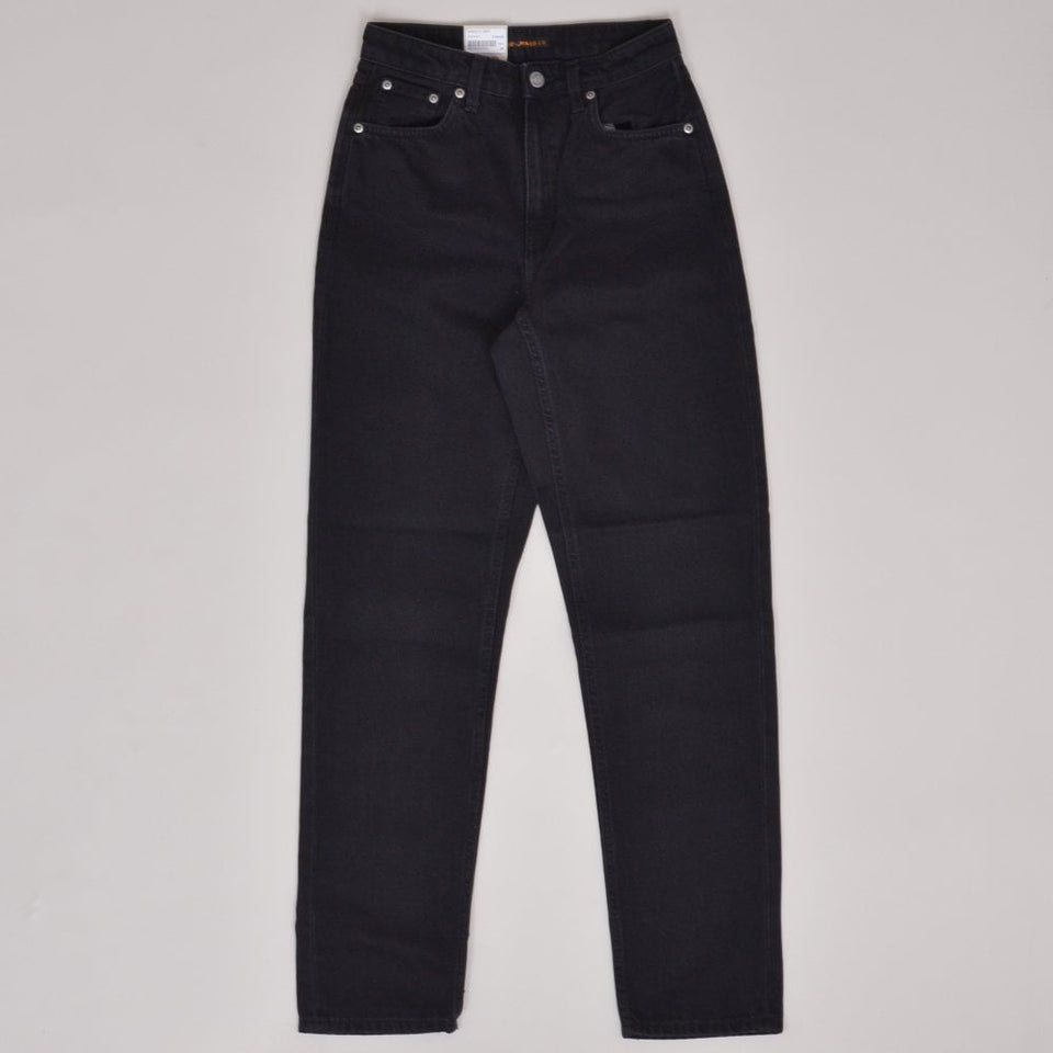 Nudie Jeans Breezy Britt - Black Worn
